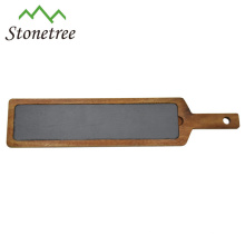 Hot Sale Wholesale New Lava Stone + Wood Cooking Slate Cheese Board