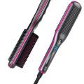 Electric hair straightener brush hair dryer