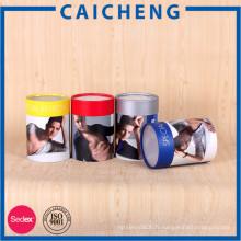 Boîte de cylindre d'emballage de tube rond de papier promotionnel de cadeau promotionnel de vente chaude