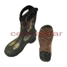 Botas de borracha camo mid-bezerro moda (rb004)