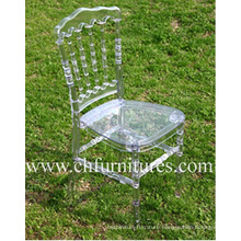 Clear Plastic Napoleon Resin Chair for Wedding and Event (YC-P23)