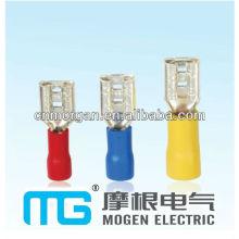 Connecteurs en laiton plat de connecteur de fabricants, déconnecteurs isolés femelles
