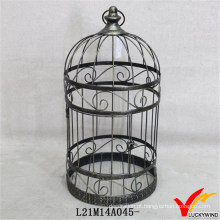 Padrão de rolo Shabby e Chic Round Metal Indoor Bird Cages