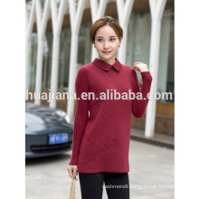 fashion lace collar women's cashmere sweater