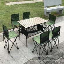 Mesa de mesa dobrável com cadeira de 7 peças cadeira de mesa dobrável de acampamento ao ar livre
