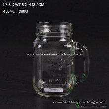 Country Style 450ml Clear com alça de vidro Mason Jars para venda