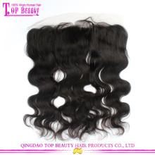 Горячие продажи 6А класс необработанных девственной индийские человеческие волосы тела волны полное кружево закрытия кружева лобной закрытия