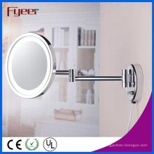 Fyeer Espejo de pared lateral ultra delgado con luz LED