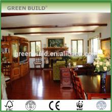 Gloss Red Jatoba Engineered Wood Flooring Drawing Room