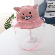 Sombrero antigotas Pink Cat para niños