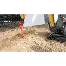 Miniexcavadora excavadora de orugas agrícolas con martillo rompedor