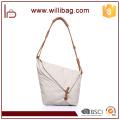 Fashional Genuine Leather Canvas Shoulder Messenger Bag For Lady