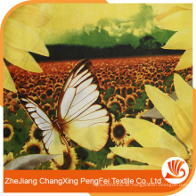 Gedruckt mit Sonnenblumen Polyestergewebe zum Verkauf