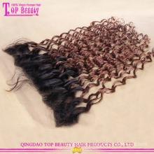 Hochwertige Mode indische Echthaar Blonde Spitzen frontalen Haarteile