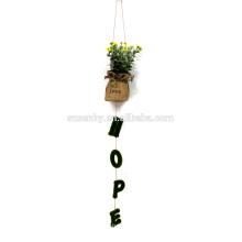 Outdoor artificial hanging plants decorative