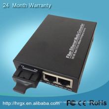 Быстрый конвертер средств оптического волокна цифро-аналоговый преобразователь оптических Медиа конвертер с 2 порта RJ45