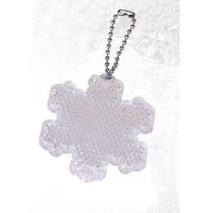 Reflective safety snowflake shape hanger