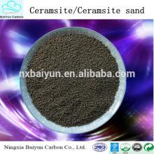 Materiales de tratamiento de agua Ningxia fabrican suministro de ceramsita / arena de ceramsita
