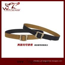 Moda lateral dobro correia de Nylon tático para correia de cintura cintos militares
