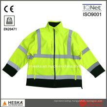 Hi Vis Waterproof Soft Shell Safety Reflective Jacket with En20471