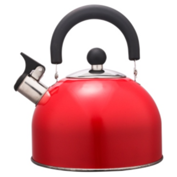 Lukisan warna 1.5L Stainless Steel Teakettle warna merah
