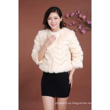 Venta caliente de la señora de la venta de la mini capa corta de la piel Surcoat