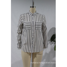 Long Sleeve Shirt Collar Printing