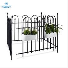 relaxdays metal garden fence powder coated Iron fence