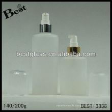 140 / 200ml, pp / bouteille de lotion de corps d'animal familier, bouteille cosmétique acrylique de forme ronde