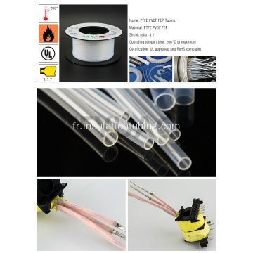 Tube PTFE thermorétractable électrique