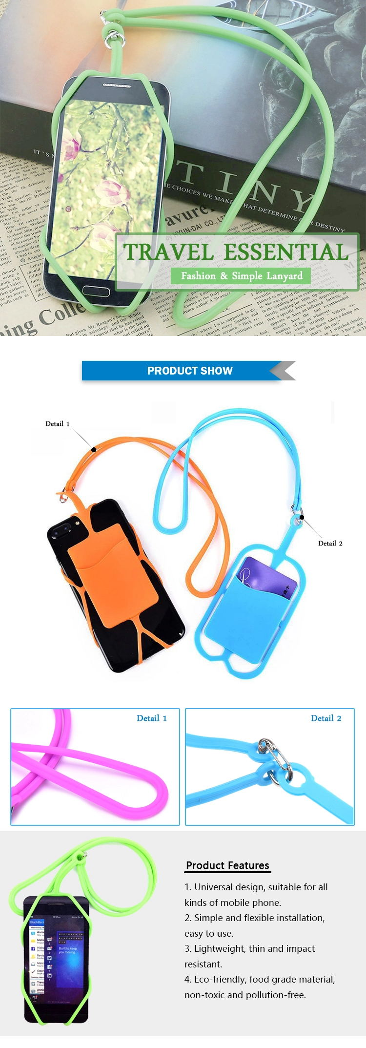 silicone lanyard product details