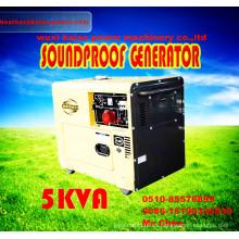 ¡Buena calidad! ! ! Portable 5kw Generador Diesel con ATS, Digitanl Panel