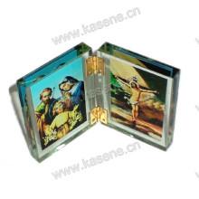 Dekorative Kristallkreuz Ornamente für religiöse, Buchform Kristall Statue