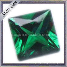 Low Price Square Green Loose Gemstone Nano Spinel Synthetic Spinel