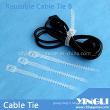 Attaches de câble réutilisables en forme d'os de poisson