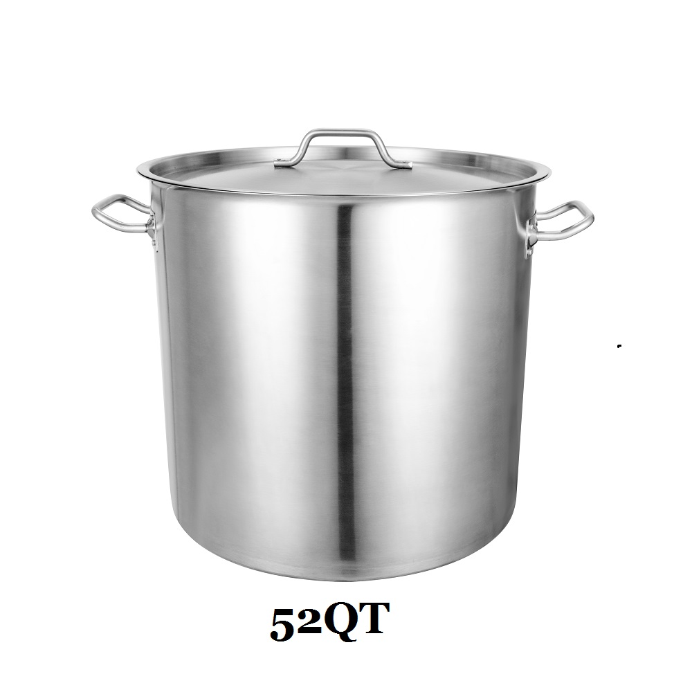 Professional Commercial Grade 52 Qt Cooking Pot Stainless Steel