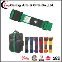 Correia de bagagem de poliéster com logotipo de design personalizado com etiqueta