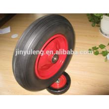 14 inches 3.50-8 4.00-8 solid polyurethane foam rubber wheel ,green wheel ,Material handling equipment parts
