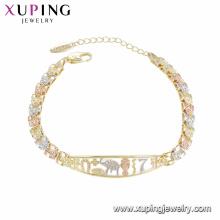 75468 xuping nova chegada de alta qualidade pulseira de moda por atacado para as mulheres