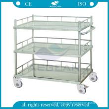 AG-SS022B acier inoxydable matériel traitement médical clinique chariot trois étagères