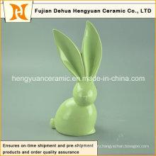 Ручная работа Большие уши Уникальный дизайн Керамические пасхальные кролики