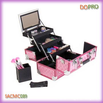 Pink Diamond ABS Surface Étui de maquillage en aluminium professionnel (SACMC089)