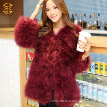 Abrigos de piel de la nueva llegada para el desgaste de la mujer Abrigos baratos del invierno de la piel Abrigos de piel de la pluma