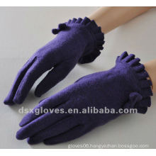 fashion Purple cashmere gloves for Lady