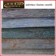 Tecido liso do Chenille para a embalagem do sofá nos rolos (EDM0244)