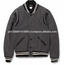 Charcoal varsity jacket custom made in Pakistan