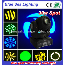 30 watt led moving head spot lighting home party disco lighting