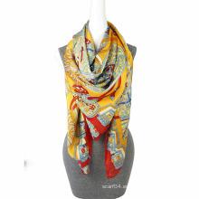 Bufanda de la bufanda del boutique de la gasa de la impresión de la manera