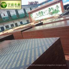 A madeira barata do uso da construção do preço do núcleo do álamo contra a madeira compensada enfrentou com logotipo impresso