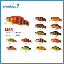 60mm / 8.5g Oberflächen-Schwimmer-Tätigkeit Fischen-Köder mit unterschiedlicher Farbe